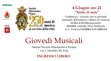 Appuntamenti Musicali Filarmonica Pisana